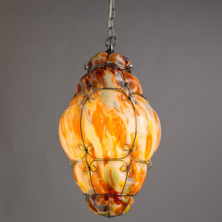 Подвесной светильник Arte Lamp Venezia A2206SP-1CC, 1xE27x100W, хром, разноцветный, металл, стекло - миниатюра 2