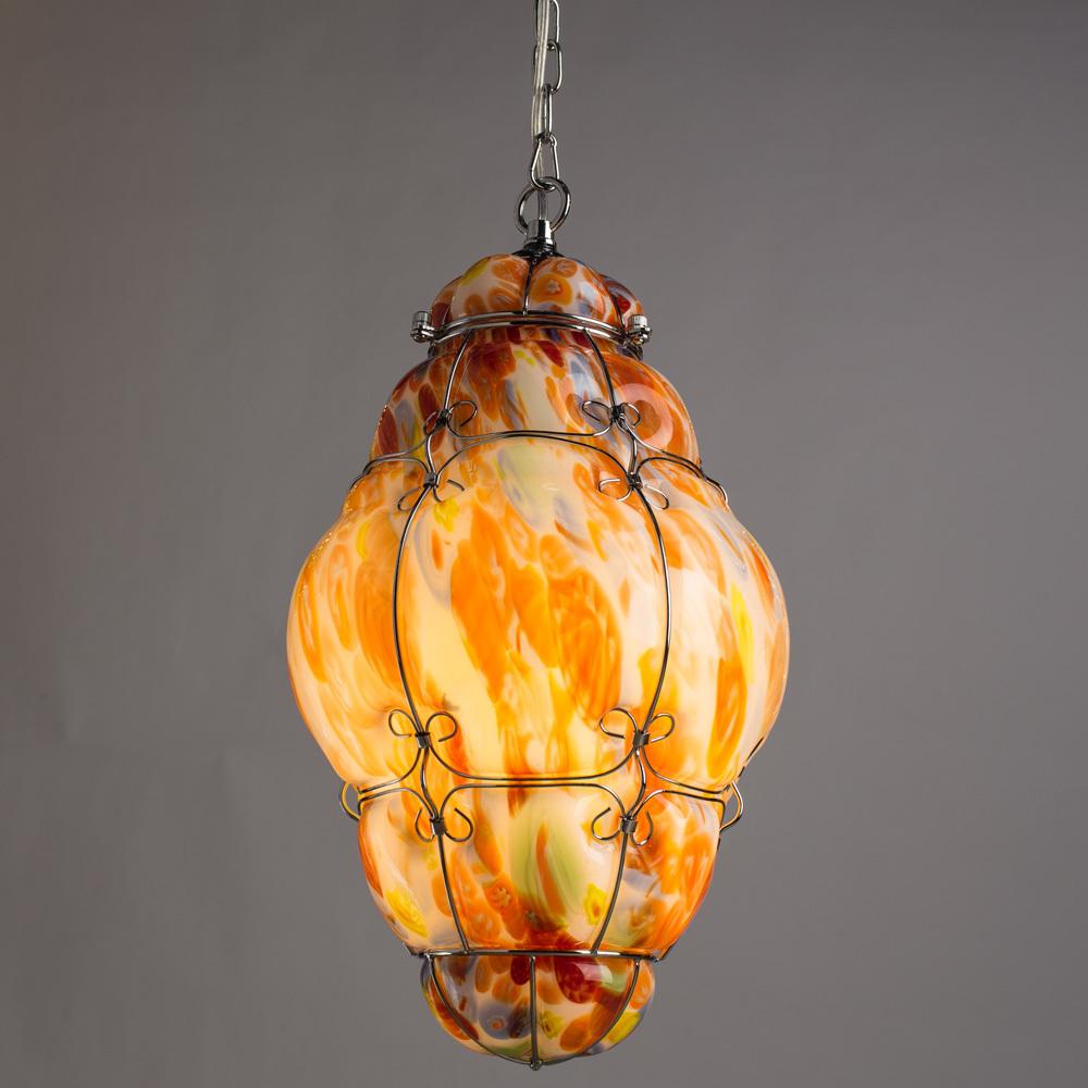 Подвесной светильник Arte Lamp Venezia A2206SP-1CC, 1xE27x100W, хром, разноцветный, металл, стекло - фото 2