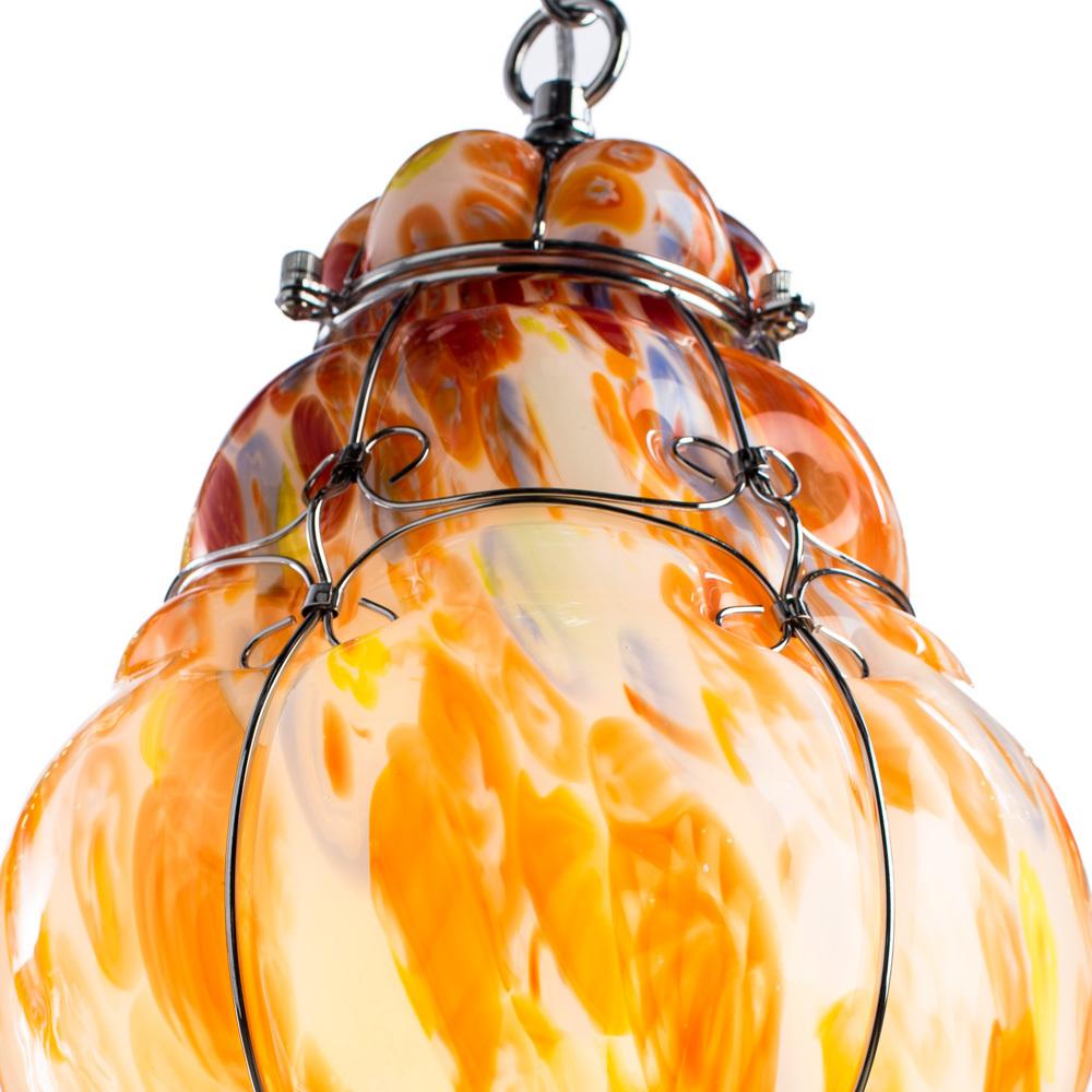 Подвесной светильник Arte Lamp Venezia A2206SP-1CC, 1xE27x100W, хром, разноцветный, металл, стекло - фото 3