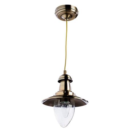 Подвесной светильник Arte Lamp Fisherman A5518SP-1AB, 1xE27x60W, бронза, прозрачный, металл, металл со стеклом
