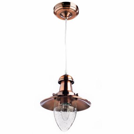 Подвесной светильник Arte Lamp Fisherman A5518SP-1RB, 1xE27x60W, медь, прозрачный, металл, стекло