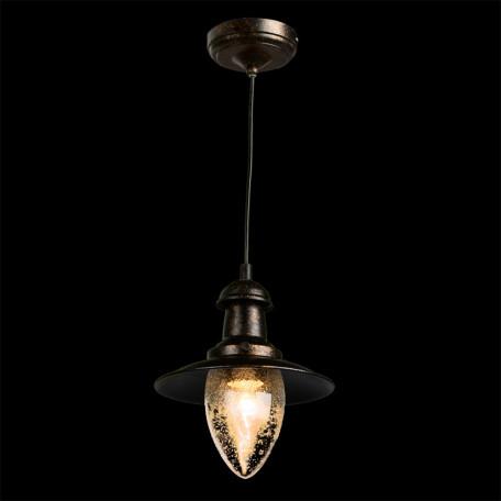 Подвесной светильник Arte Lamp Fisherman A5518SP-1RI, 1xE27x60W, серый, прозрачный, металл, стекло - миниатюра 2