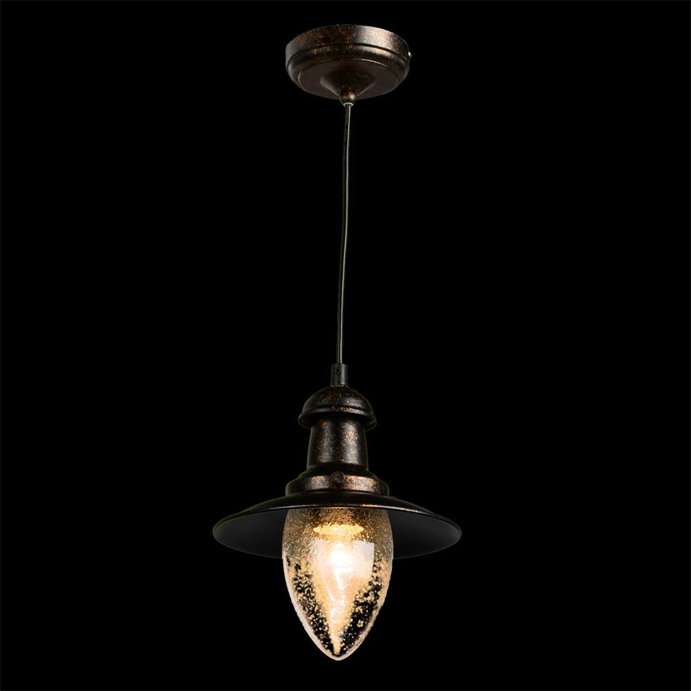 Подвесной светильник Arte Lamp Fisherman A5518SP-1RI, 1xE27x60W, серый, прозрачный, металл, стекло - фото 2
