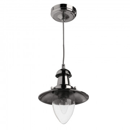 Подвесной светильник Arte Lamp Fisherman A5518SP-1SS, 1xE27x60W, серебро, прозрачный, металл, металл со стеклом