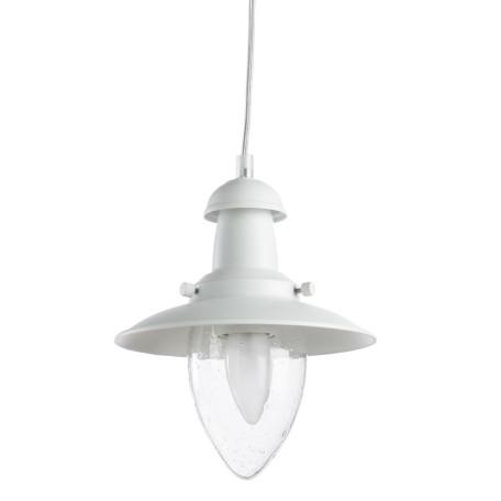 Подвесной светильник Arte Lamp Fisherman A5518SP-1WH, 1xE27x60W, белый, прозрачный, металл, стекло