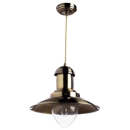 Подвесной светильник Arte Lamp Fisherman A5530SP-1AB, 1xE27x100W, бронза, прозрачный, металл, металл со стеклом
