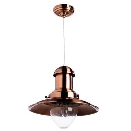 Подвесной светильник Arte Lamp Fisherman A5530SP-1RB, 1xE27x100W, медь, прозрачный, металл, стекло