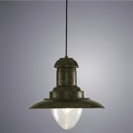 Подвесной светильник Arte Lamp Fisherman A5530SP-1RI, 1xE27x100W, серый, прозрачный, металл, стекло