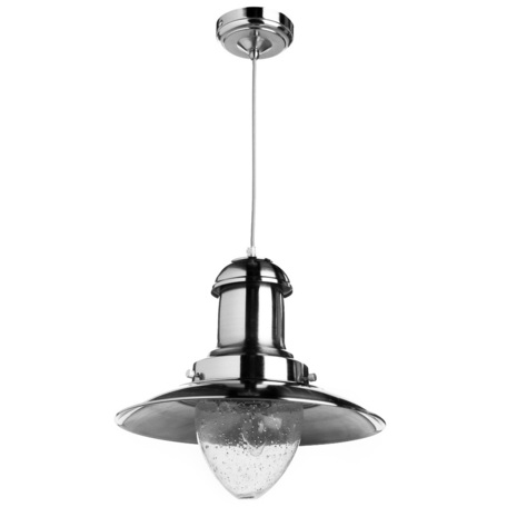 Подвесной светильник Arte Lamp Fisherman A5530SP-1SS, 1xE27x100W, серебро, прозрачный, металл, стекло
