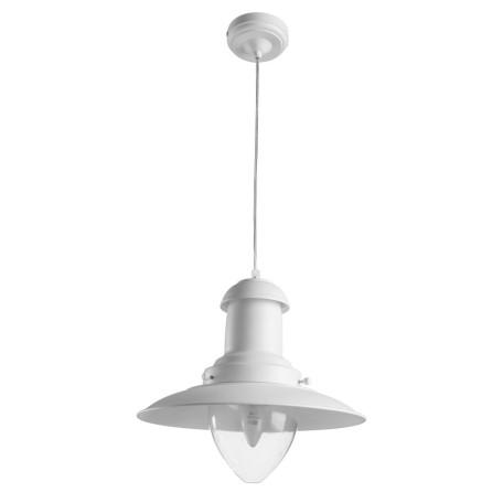 Подвесной светильник Arte Lamp Fisherman A5530SP-1WH, 1xE27x100W, белый, прозрачный, металл, металл со стеклом