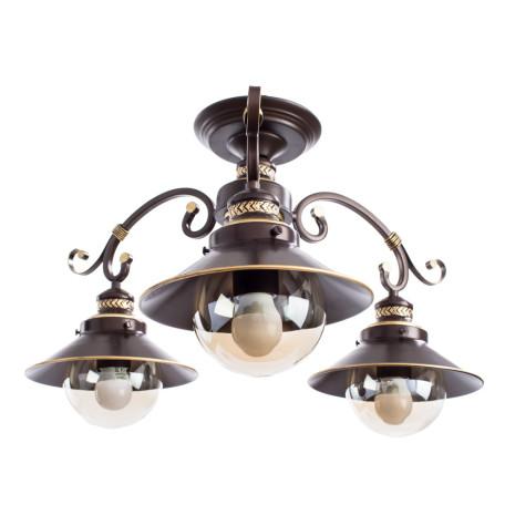 Потолочная люстра Arte Lamp Grazioso A4577PL-3CK, 3xE27x60W, коричневый, прозрачный, металл, металл со стеклом