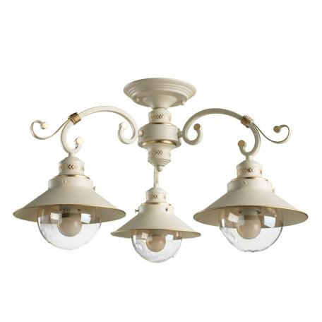 Потолочная люстра Arte Lamp Grazioso A4577PL-3WG, 3xE27x60W, белый с золотой патиной, белый, прозрачный, металл, металл со стеклом