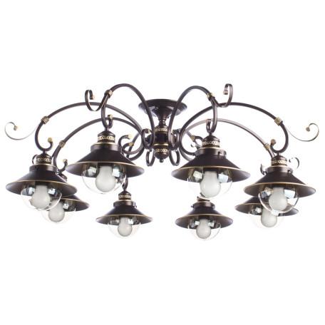 Потолочная люстра Arte Lamp Grazioso A4577PL-8CK, 8xE27x60W, коричневый, прозрачный, металл, металл со стеклом