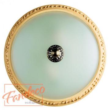 Потолочный светильник Arte Lamp Ivory A9070PL-2AB, 2xE14x40W, бронза, белый, металл, пластик, стекло