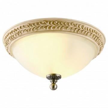 Потолочный светильник Arte Lamp Ivory A9070PL-2AB, бронза, белый, металл, пластик, стекло