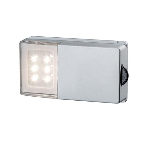 Мебельный светодиодный светильник Paulmann SnapLED 70498, LED 0,33W, серебро, пластик