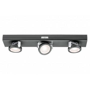 Мебельный светодиодный светильник Paulmann Rotate 70636, LED 0,6W, черный хром, пластик