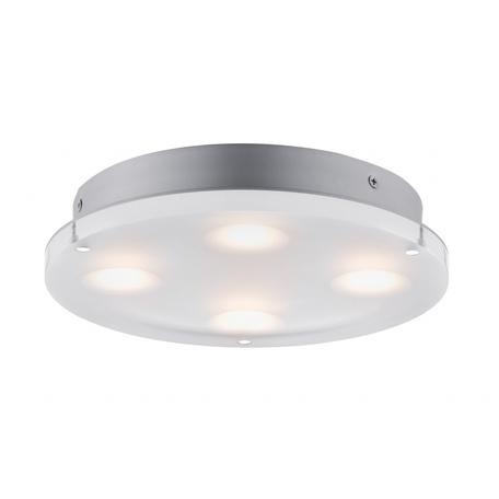 Потолочный светодиодный светильник Paulmann Minor 70509, IP44, LED 18W, серый, белый, металл, пластик