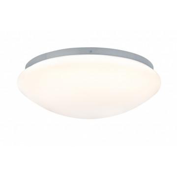 Потолочный светодиодный светильник Paulmann Leonis 70722, IP44, LED 9,5W, серый, белый, пластик