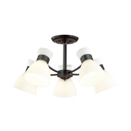 Потолочная люстра Lumion Comfi Wilma 4534/5C, 5xE27x60W, черный, белый, металл, стекло
