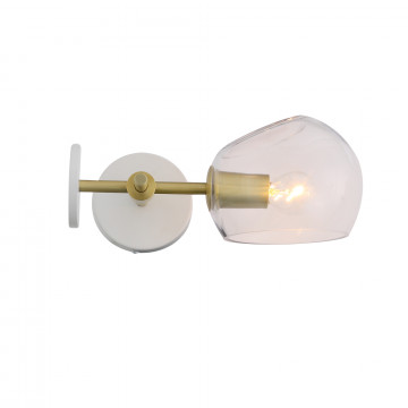 Бра ST Luce Calmare SL434.201.01, 1xE14x40W, матовое золото, прозрачный, металл, стекло