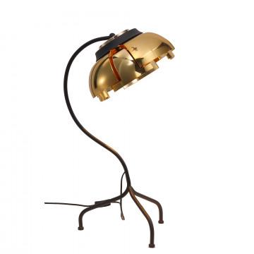 Настольная лампа ST Luce Loto SL817.424.01, 1xE27x40W, черный, золото, металл, пластик