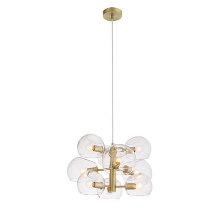 Подвесная люстра ST Luce Calmare SL434.203.09, 12xE14x40W, матовое золото, прозрачный, металл, стекло