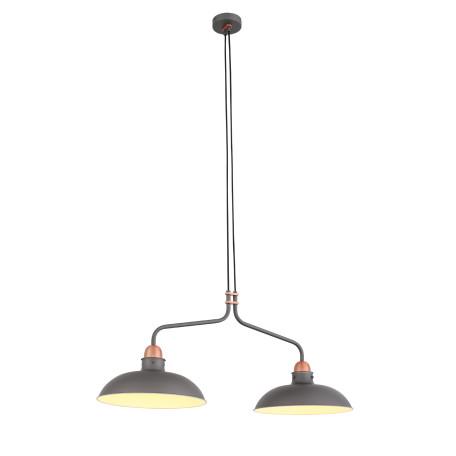 Подвесной светильник ST Luce Pietanza SL323.403.02, 2xE27x60W, медь, серый, металл