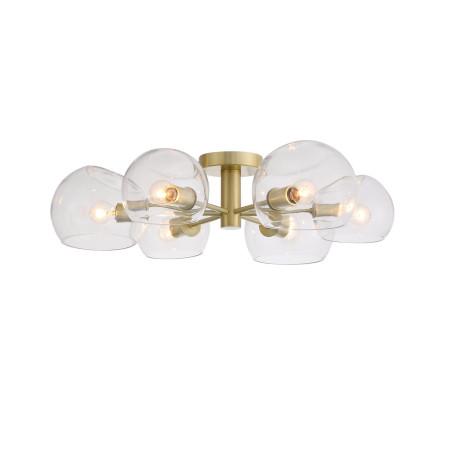 Потолочная люстра ST Luce Calmare SL434.202.06, 6xE14x40W, матовое золото, прозрачный, металл, стекло