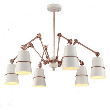 Потолочная люстра с регулировкой направления света ST Luce Sorspreso SL458.522.06, 6xE14x40W, белый, медь, металл