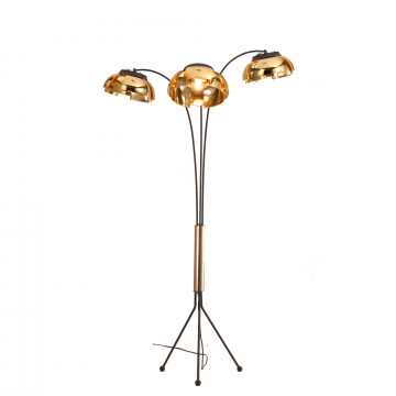 Торшер ST Luce Loto SL817.425.03, 3xE27x40W, черный, золото, металл, пластик