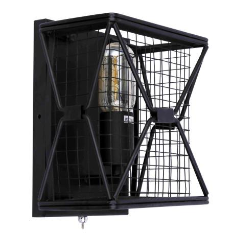 Настенный светильник Divinare Rete 5009/04 AP-1, 1xE27x40W, черный, металл