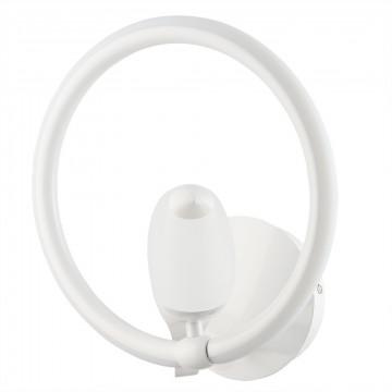 Настенный светильник Divinare Tucano 9656/03 AP-1 4000K (дневной), белый, металл, пластик