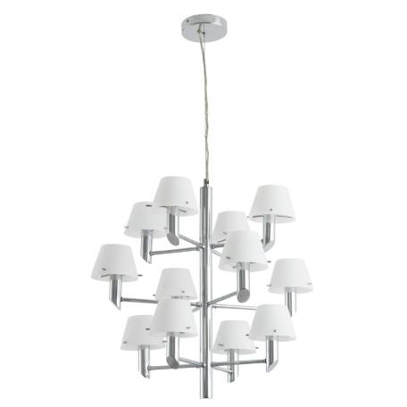 Подвесная люстра Divinare Albero 1680/02 LM-12, 12xE14x60W, хром, белый, металл, стекло