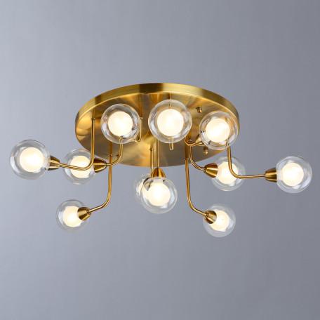 Потолочная люстра Divinare Dallas 3360/15 PL-11, 11xG9x33W, латунь, прозрачный, металл, стекло