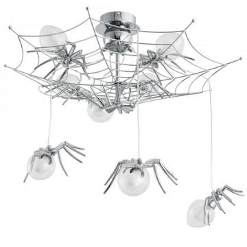 Потолочно-подвесная люстра Divinare Ragno 1308/02 PL-8, 8xG9x40W, хром, прозрачный, металл, стекло