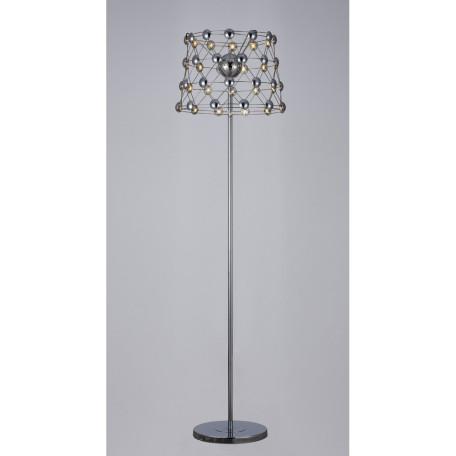 Торшер Divinare Cristallino 1609/02 PN-48 3000K (теплый), хром, металл, пластик