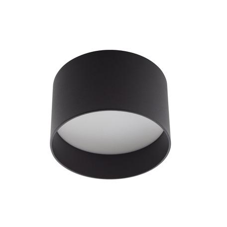 Потолочный светодиодный светильник Denkirs DK4015-BK, LED 16W 3000K 850lm, белый, черный, металл