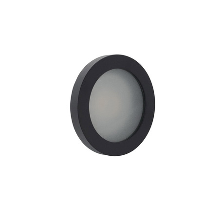 Встраиваемый светильник Denkirs DK3012-BK, IP44, 1xGU10x50W, черный, металл