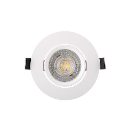 Встраиваемый светильник Denkirs DK3020-WH, 1xGU5.3x10W, белый, пластик