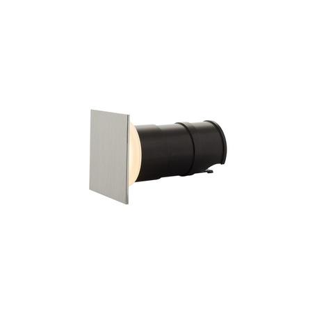 Встраиваемый настенный светодиодный светильник Denkirs DK1002-AL, IP65, LED 3W 3000K, серый, металл, пластик