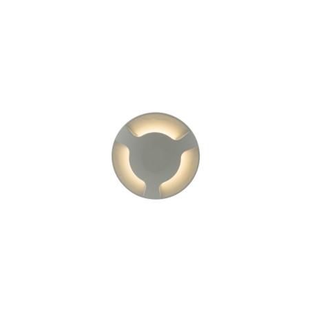Встраиваемый настенный светодиодный светильник Denkirs DK1003-WH, IP65, LED 3W 3000K, белый, металл, пластик