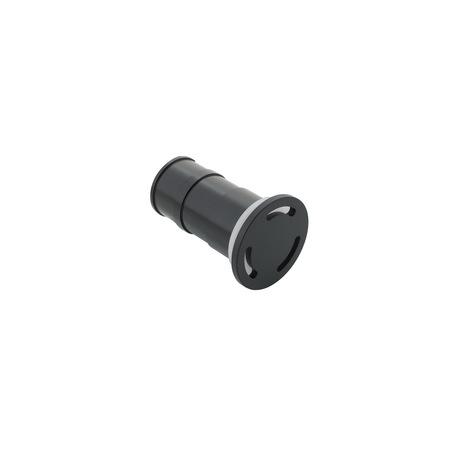 Встраиваемый настенный светодиодный светильник Denkirs DK1005-BK, IP65, LED 3W 3000K, черный, металл, пластик