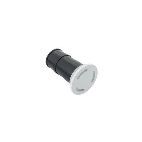 Встраиваемый настенный светодиодный светильник Denkirs DK1005-WH, IP65, LED 3W 3000K, белый, металл, пластик