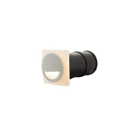 Встраиваемый настенный светодиодный светильник Denkirs DK1010-WH, IP65, LED 3W 3000K, белый, металл, пластик