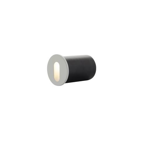 Встраиваемый настенный светодиодный светильник Denkirs DK1011-WH, LED 1W, 3000K (теплый), белый, металл