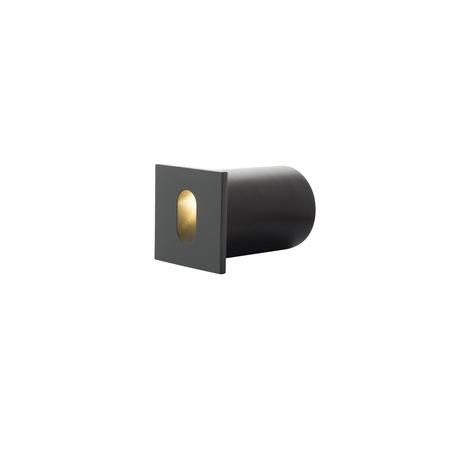 Встраиваемый настенный светодиодный светильник Denkirs DK1012-DG, LED 1W 3000K, серый, металл