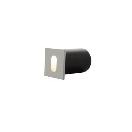 Встраиваемый настенный светодиодный светильник Denkirs DK1012-WH, LED 1W 3000K, белый, металл