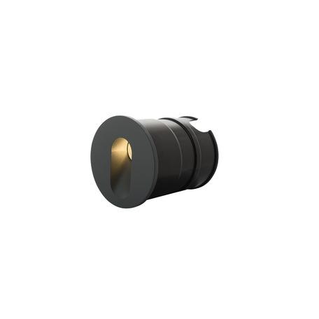 Встраиваемый настенный светодиодный светильник Denkirs DK1013-DG, IP65, LED 1W 3000K, серый, металл