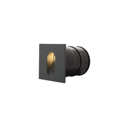 Встраиваемый настенный светодиодный светильник Denkirs DK1014-DG, IP65, LED 1W 3000K, серый, металл